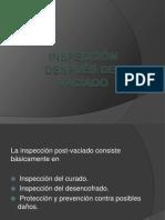 INSPECCIÓN DESPUÉS DEL CURADO DIAPOS