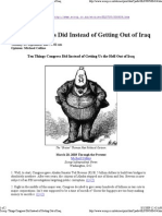 Things Congress Did Instead of Getting Us the Hell Out of Iraq