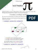 Pi & Fibonacci Numbers