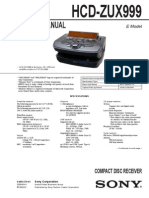 SONY HCD-ZUX999 service manual