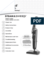 BISSELL steam and sweep  vacuum