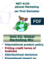 MKT 4134 International Marketing Fourth Year First Semester