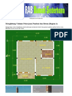 Pondasi Dan Beton - Panduan Menghitung Volume Pekerjaan Konstruksi Bangunan - Bagian 1