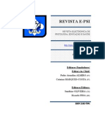 2011 - Revista E-psi Ano1, Volume 1