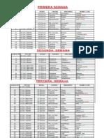 Calendario Beisbol Temporada 2013