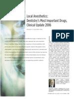 Local Anesthesia Drugs CDA 2006 Malamed