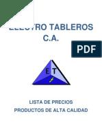Catalogo Electro Tableros