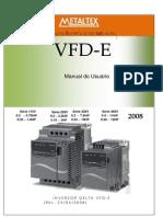 Manual Inversor VFDE_Português