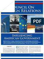 Council on Foreign Relations Influencing American Government