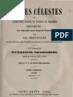 Em Swedenborg ARCANES CELESTES Tome Premier Genese I VII Numeros 1 823 LeBoysDesGuays 1841