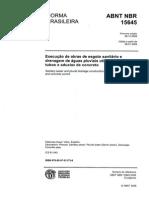 NBR 15645 Execução de Obras de Esgoto e Drenagem com Tubos e Aduelas de Concreto