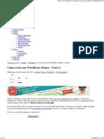Como Criar Um WordPress Theme - Parte 2