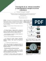 evaluación del desempeño de un  sistema neumático de harvesting experimental de energía en accesos vehiculares