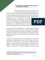 CONTAMINACIÓN DE AGUA POR ACEITE VEGETAL