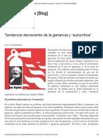 Tendencia Decreciente de La Ganancia - Rolando Astarita