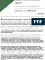 NoticiasdelCeHu 10103 - Africa  un continente en transformación (Ignacio Ramonet)