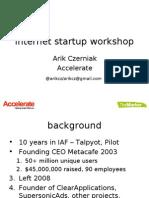 Marker Accelerate Workshop 20-7-2009