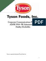 tyson foods comm audit final project