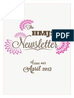 The HMJS Newsletter, Issue #03