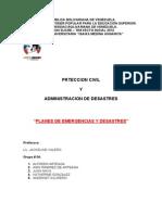 Informe Plan de Emergencias y Desastres