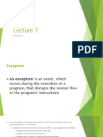 Lecture 7 Exceptions and Sockets