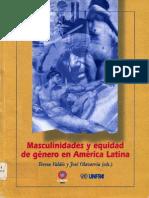 Valdez y Olavarria Masculinidades y Equidad de Genero en America Latina