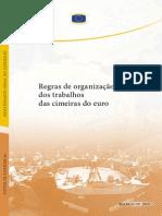Regras de organização dos trabalhos das Cimeiras do Euro