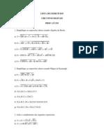 Lista de Exercicios de CD