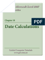Learning Microsoft Excel 2007 - Date Calculations