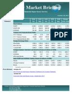Weekly Market Briefing (October 28, 2013)