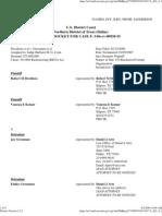 Federal Pacer Docket NDTX Davidson v. Grossman