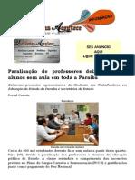 Paralisação de professores deixa 300 mil alunos sem aula em toda a Paraíba