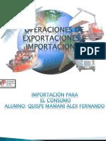 Operacion de Exportacion e Importacion