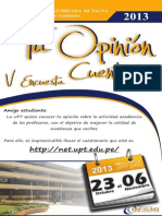 Tu Opinion Cuenta 2013