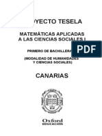 Programacion Tesela Matematicas Aplicadas a Las Ciencias Sociales 1 BACH Canarias