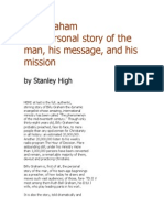 Billy Graham the Personal Story of the Man, His Message, And His Mission by Stanley High