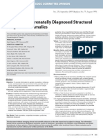Evaluation of Prenatally Diagnosed Structural Congenital Anomalies