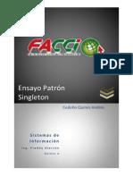 Cedeño Quimis Andres - Ensayo Patron Singleton