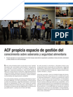 ACF propicia espacio de gestión del conocimiento sobre soberanía y seguridad alimentaria