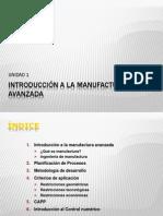 U1 Introduccion a La Manufactura Avanzada
