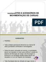 GUINDASTES E ACESSÓRIOS DE MOVIMENTAÇÃO DE CARGAS