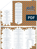Koolba Menu
