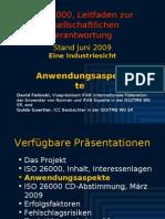 ISO 26000 (3) Anwendungsaspekte 2009-06b