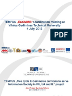 ECOMMIS Progress Report