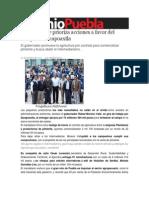 29-10-2013 Sexenio Puebla - Moreno Valle Prioriza Acciones a Favor Del Campo en Zacapoaxtla