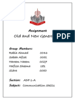 Old and new Generation.docx