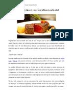 Los Diferentes Tipos de Carne y Su Influencia en La Salud