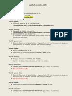 Agenda de Novembro de 2013
