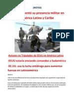 EEUU aumentó su presencia militar en América Latina y Caribe-(NOTAS)
