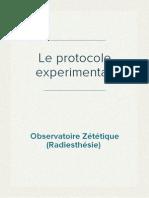 (Radiesthésie) Observatoire Zététique - Le protocole experimental